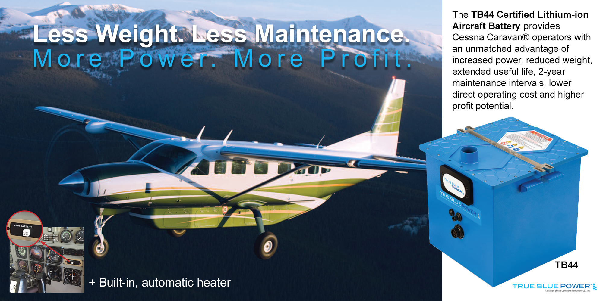 Lithium-Ion Battery Upgrade for the Cessna Caravan - KADEX Aero
